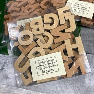 Other - Bamboo letters craft decor